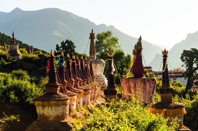 Pagodas in Tibet