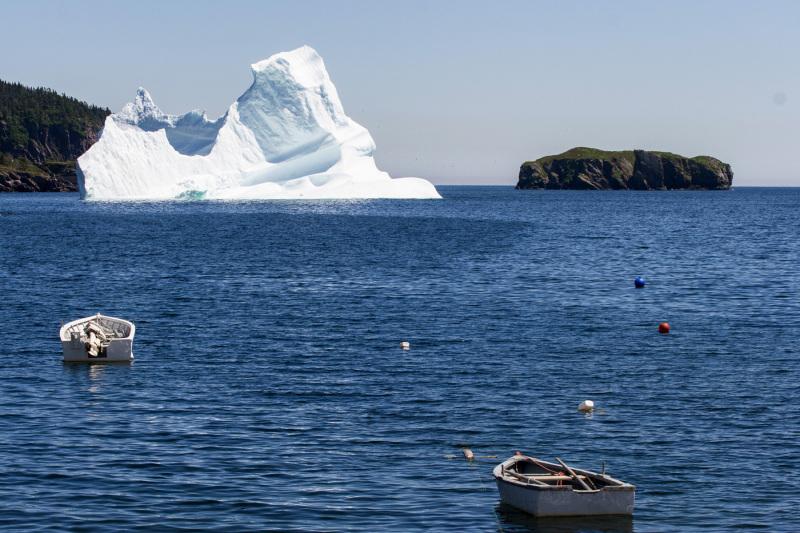 An iceberg anchorage