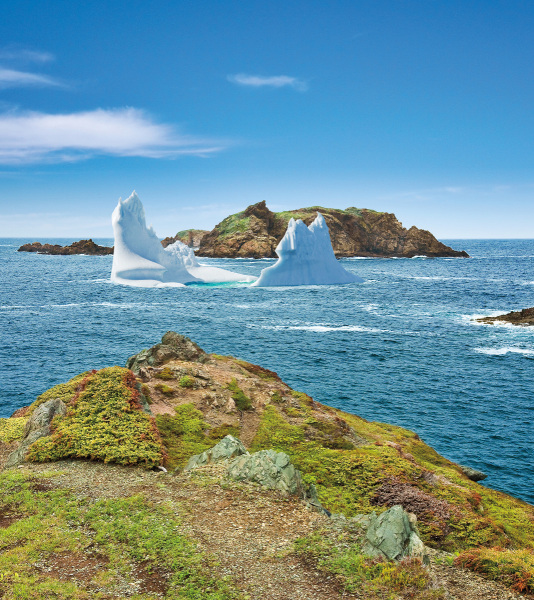 An iceberg in the summer sun