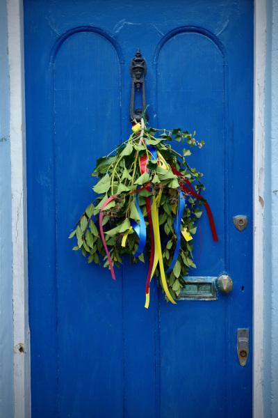 A decorated door