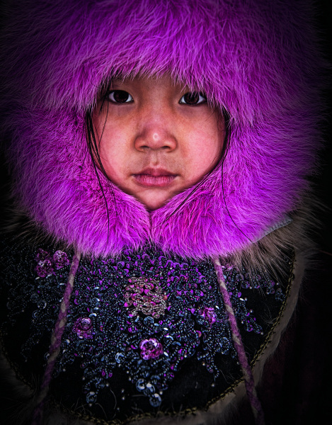 A Chukchi girl in far northeast Russia