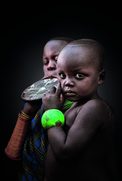 A Mursi woman and child, Ethiopia