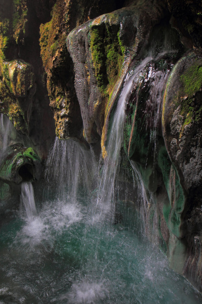A natural hot spring