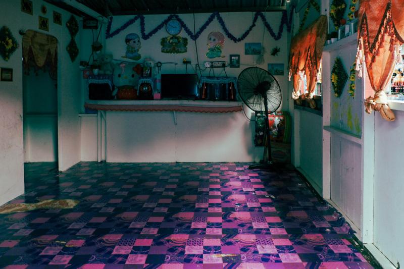 Stilt village interior