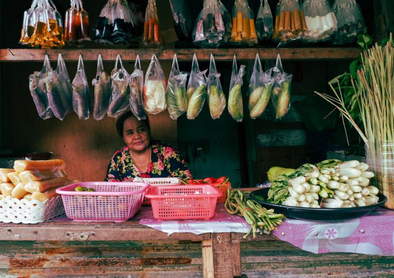 Stilt village produce store