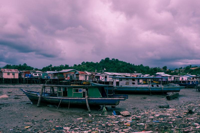 Low tide in Kota Kinabalu