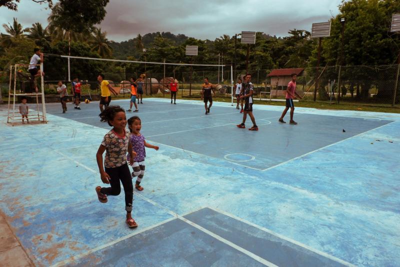 Volley ball court on Tioman Island