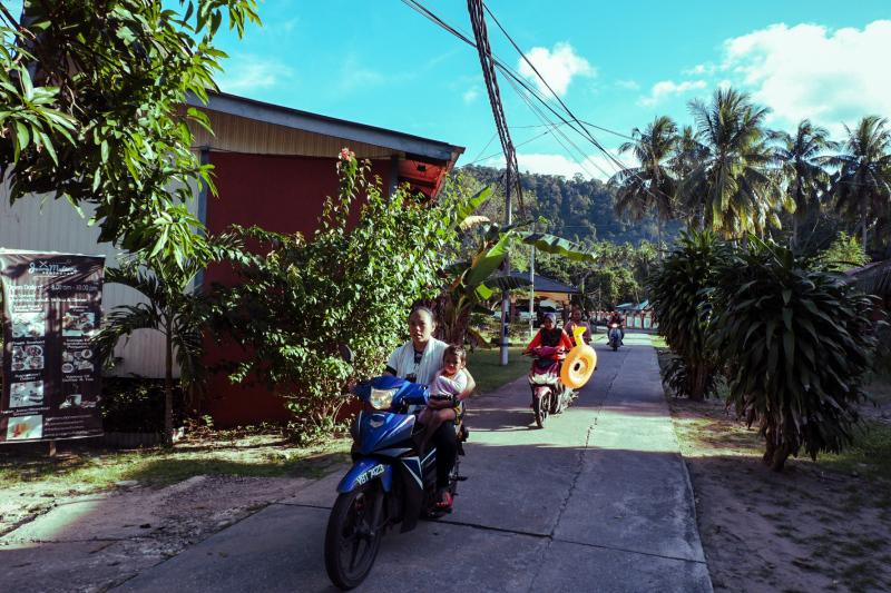 Off to the beach on Tioman Island
