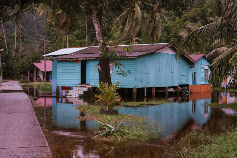 An unintended lake house during the monsoon on Tioman Island