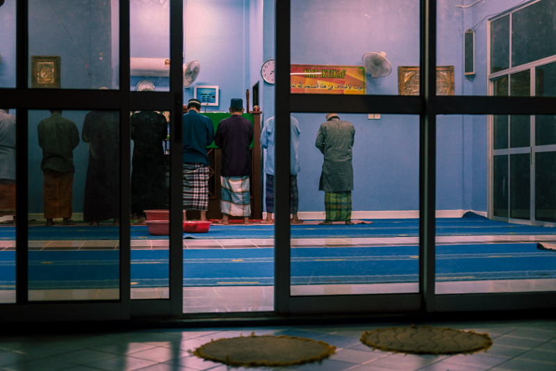 Praying at the local mosque on Tioman Island