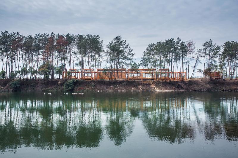 Pine Park Pavilion in Huangyu Village