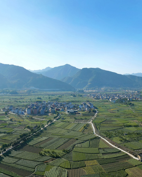 Arial view Songyang County