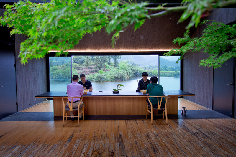 Teahouse in Damushan Tea Valley