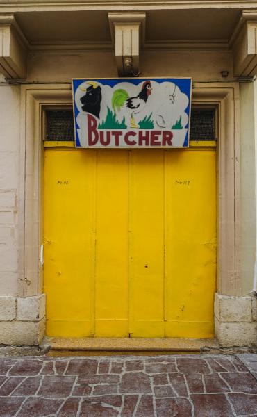 Butcher shop in Valletta (Peter Moore)
