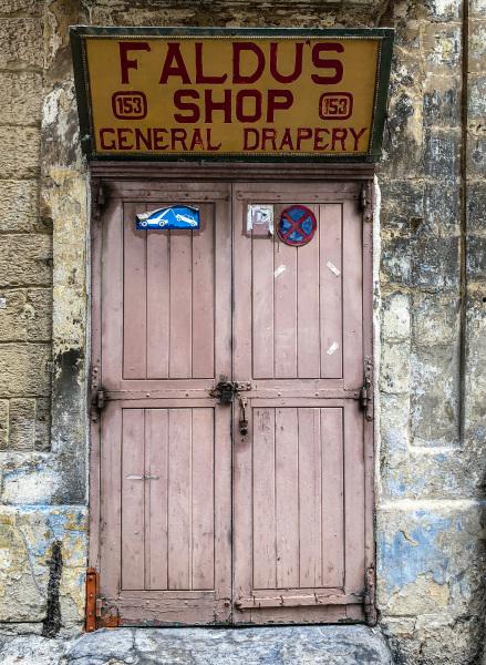Industrial doorway in Valletta (Peter Moore)