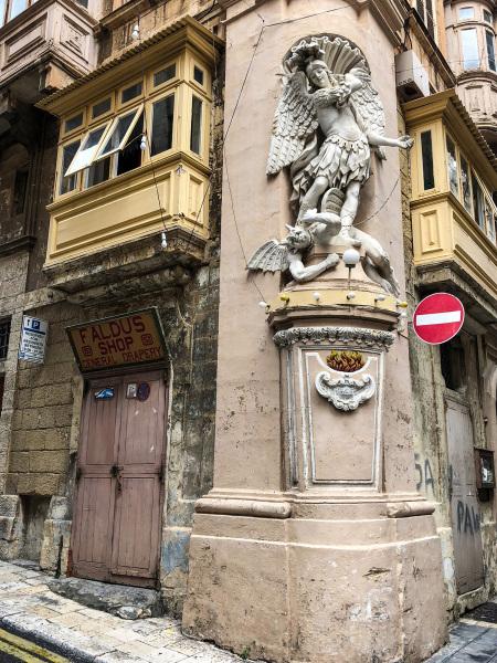 Street corner in Valletta (Peter Moore)